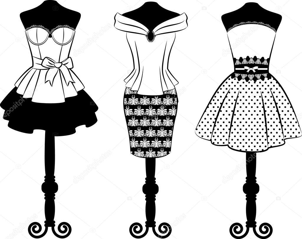 复古连衣裙花边饰品.设置