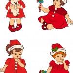 Cartoon little girls in suit Snow Maiden — Stock Vector #9291607