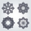 Snowflake winter background — Stock Vector #9291676