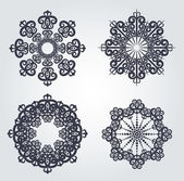 Snowflake winter background — Stock Vector