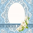 Vintage background with lace ornaments and flowers - Stok Vektör