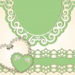 Vintage background with lace ornaments - Stok Vektör