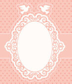 Vintage background with lace ornaments — Vector de stock