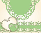 Vintage background with lace ornaments — Vettoriale Stock