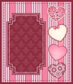 Vintage background with lace ornaments for Valentine's Day — Stok Vektör
