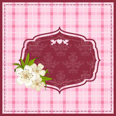 Vintage background with lace ornaments and flowers — Stok Vektör
