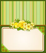 Vintage background with lace ornaments and flowers — Vector de stock