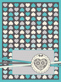 Vintage background with lace ornaments for Valentine's Day — Vecteur
