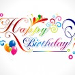 Abstract happy birthday card - Imagens vectoriais em stock