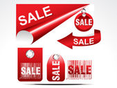 Abstract glossy sale tag set — Vector de stock
