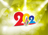 New year background with spotlight — Stock Vector