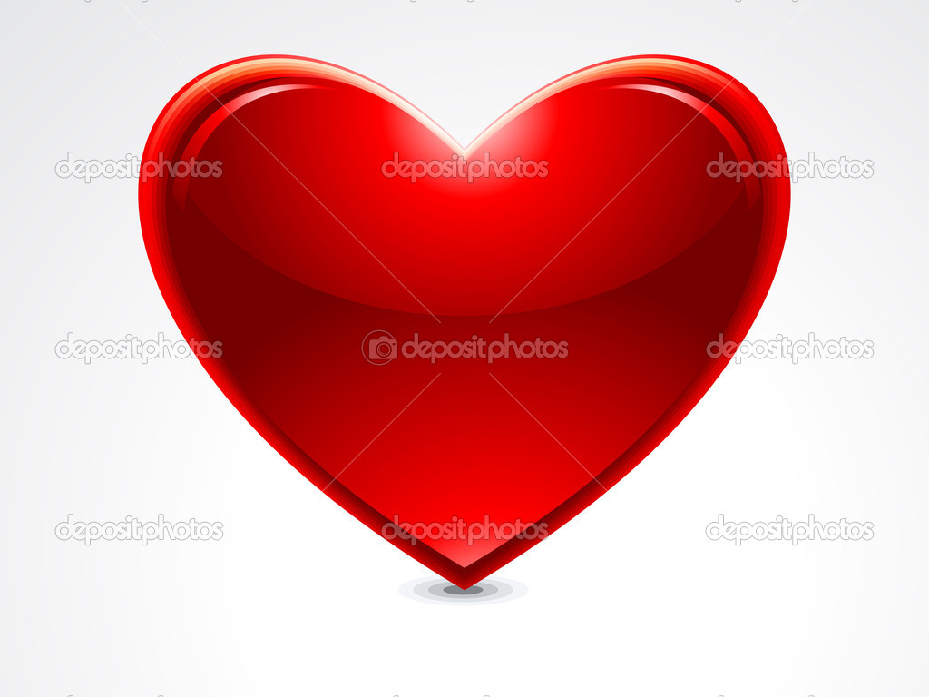 ABSTRACT GLOSSY HEART VECTOR ILLUSTRATION  Stock Vector #10362419