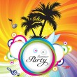 Royalty-Free Stock Imagen vectorial: Abstract summer party background