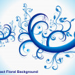 Abstract blue floral — Stock Vector