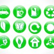 Abstract green eco icon — Stock Vector