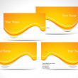 Wektor stockowy : Abstract orange business card