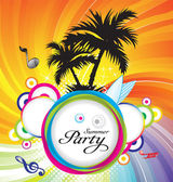 Abstract summer party background — Stock Vector