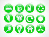 Abstract green eco icon — Stock vektor