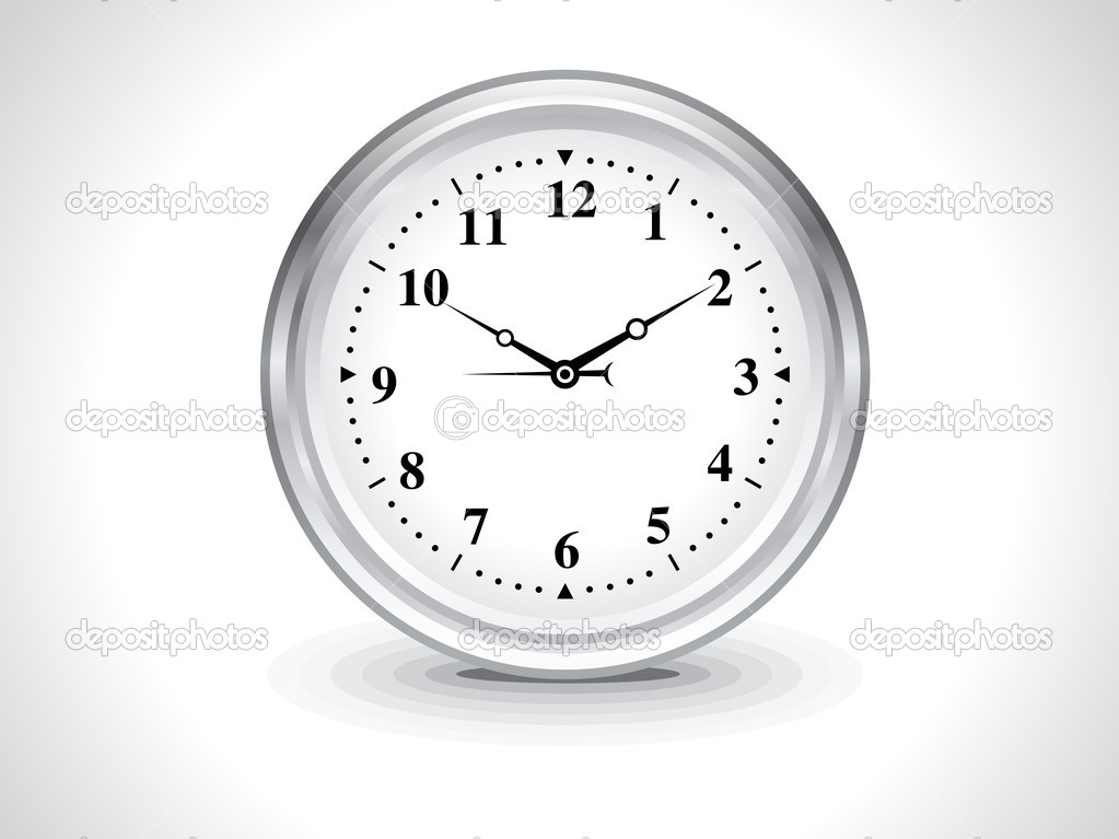 Abstract wall clock vector illustration  Stock Vector #10588187