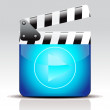 Vettoriale Stock : Abstract movie icon
