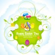 Stok Vektör: Abstract colorful easter day background
