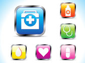 Abstract colorful medical icon — Stock Vector