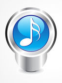 Abstract glossy musica icon — Stock Vector