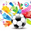 Royalty-Free Stock Vector Image: Abstract football with colorful star