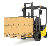 Forklift Truck and Pallet. — Stock Photo