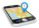 Smartphone gps, pointeur. — Photo