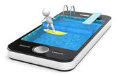 Surfing with your Smart Phone. — Stock Photo