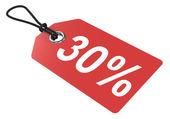Price tag. 30 percent. — Stock Photo
