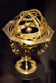 Old gilded astronomical globe — Stock Photo