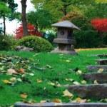 A lantern in a japanese garden — Stock Photo