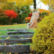 Stone stairs in a japanese garden — Stock Photo
