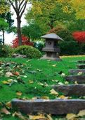 A lantern in a japanese garden — Stock Photo