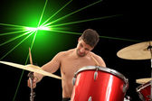 Young drumer portrait — Stock Photo