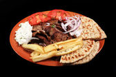 Donner kebab meal — Stock Photo