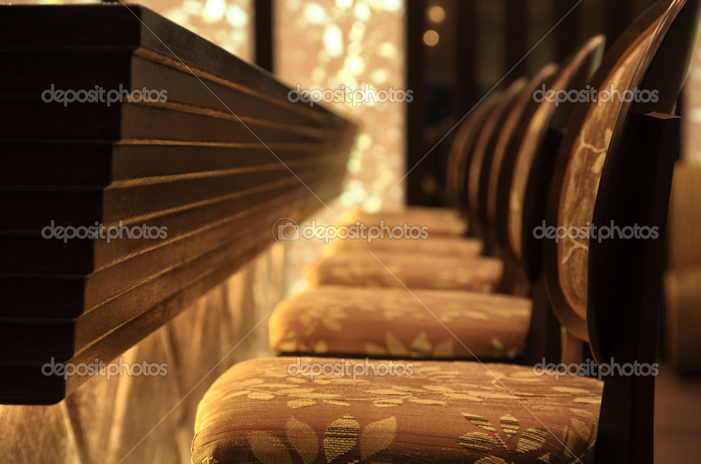 Interior of a lounge bar with seats — Stock Photo #8111541