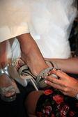 Svatební obuv — Stock fotografie