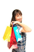 Young girl with shopping bags — Stock Photo