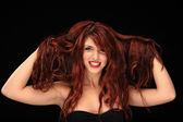 Beautiful red hair young girl — Foto de Stock