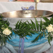 Decoration of christening bowl — Stock Photo #8680371