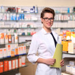 Stock Photo: Beautiful pharmacist