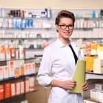 Beautiful pharmacist — Stock Photo #9643349
