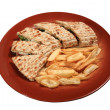 Kebab served on a plate — Stock Photo