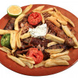 Kebab served on plate — Foto Stock #9643795