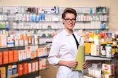 Beautiful pharmacist — Stock Photo