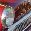 Collector Car Headlight — Stock Photo