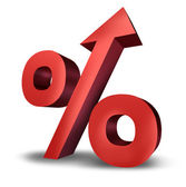 Rising Interest Rates — Foto Stock